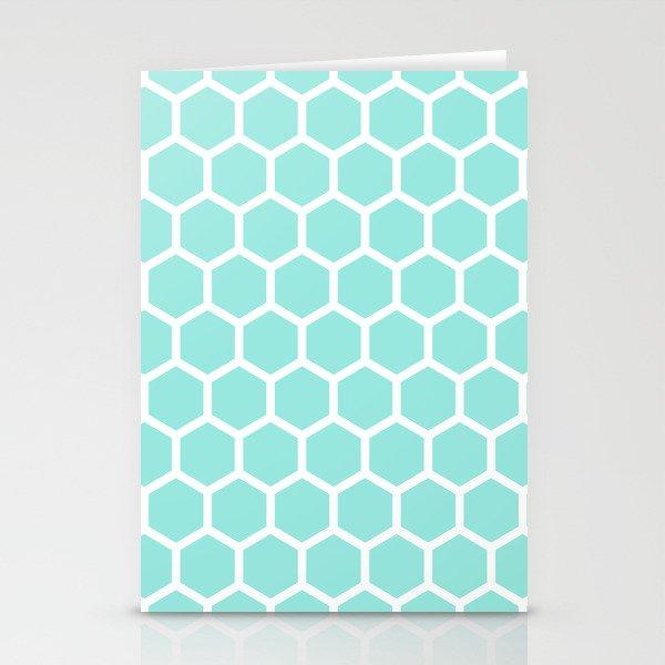 Blue Tiffany Honeycomb Stationery Cards