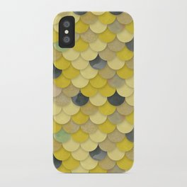 Gold Mermaid Scales iPhone Case