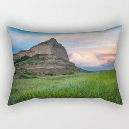 Scottsbluff - Landscape in Evening Light in Western Nebraska Rectangular Pillow