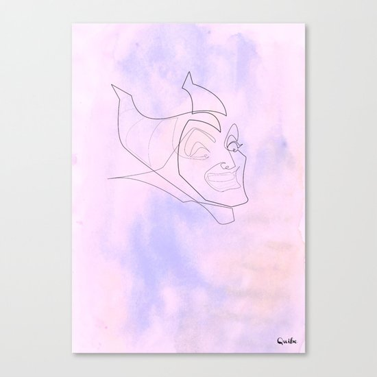One line maleficent Canvas Print