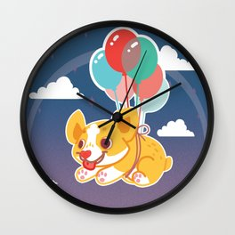 Balloon Corgi Wall Clock