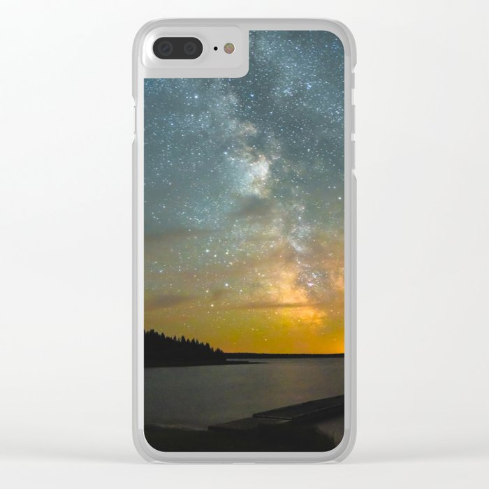 Milky Way Galaxy in Manitoba Clear iPhone Case