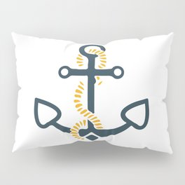Anchor Ahoi Sailorboat marina Pillow Sham