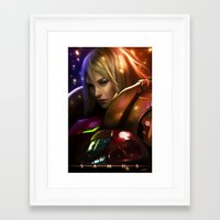 samus Framed Art Prints featuring Samus by KlsteeleArt