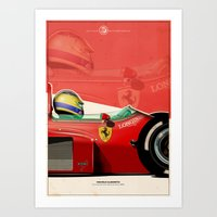 f1 Art Prints featuring Michele Alboreto - F1 1985 by Evan DeCiren
