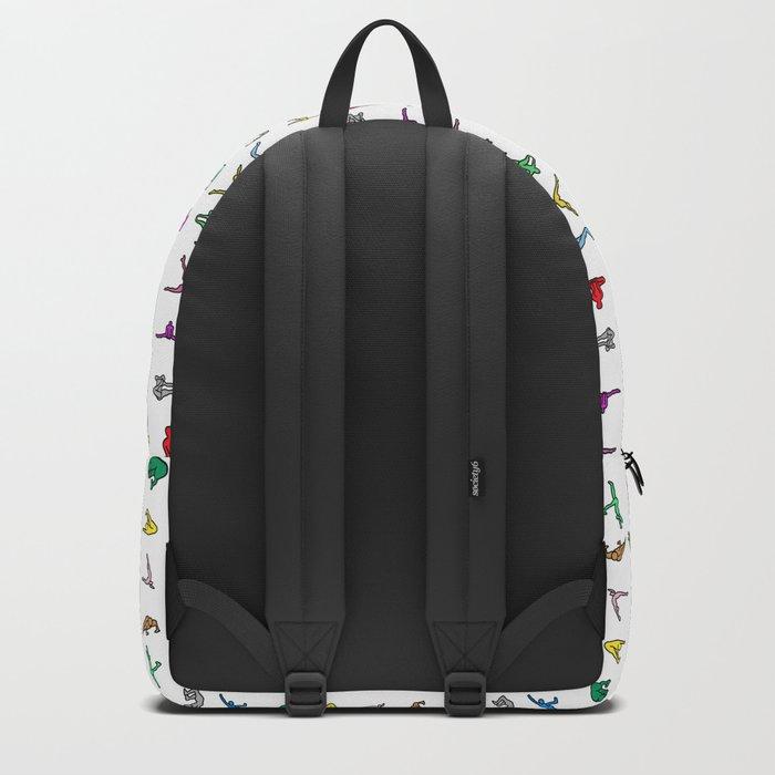 Rainbow Yoga Poses Backpack