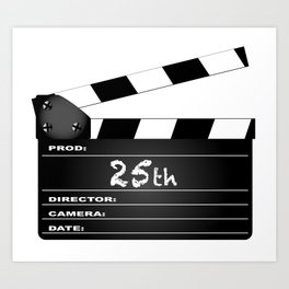 25th Year Clapperboard Art Print