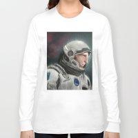 interstellar Long Sleeve T-shirts featuring Interstellar by San Fernandez