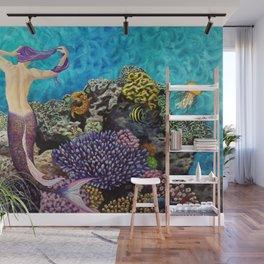 Morning Routine - Mermaid seascape Wall Mural