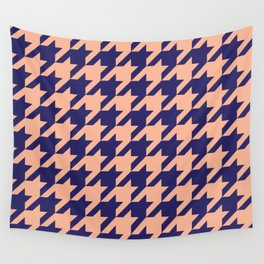Houndstooth (Blue and Beige) Wall Tapestry