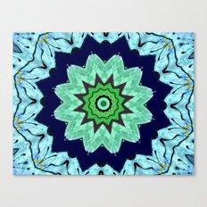 Lovely Healing Mandalas in Brilliant Colors: Light Blue, Dark Blue, Mint, Purple, and Green Canvas Print