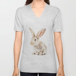 Wild Bunny Watercolor Unisex V-Neck