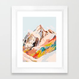 glass mountains Framed Art Print