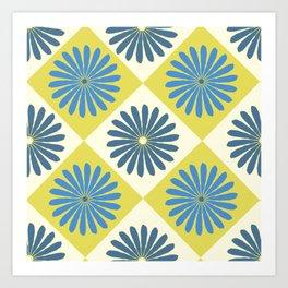 Daisy Argyle Blue Art Print
