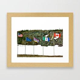 Flags of the Yukon Framed Art Print
