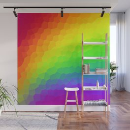 Stained Glass Rainbow Gradient (Dark) Wall Mural