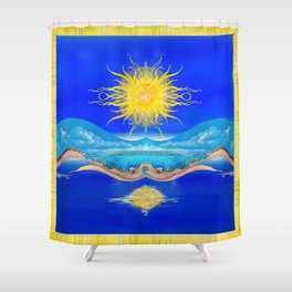 Sacred Sun Shower Curtain