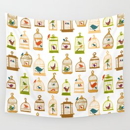 Bird Cages Wall Tapestry