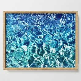 Psychedelic Water in Blue Serving Tray
