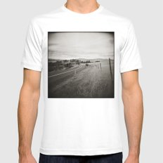 {  on the road } Mens Fitted Tee MEDIUM White