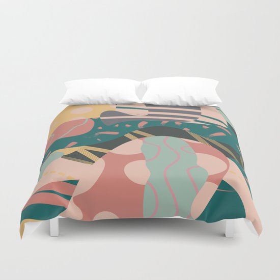 Tribal pastels Duvet Cover
