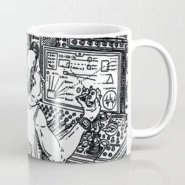 Quarantine heads on synthesizer production Coffee Mug