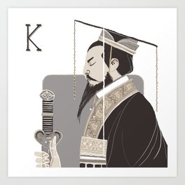 King Q. Art Print