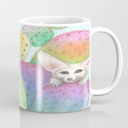 Fennec Fox in Cactus Coffee Mug