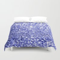 sparkles Duvet Covers featuring Blue Sparkles by Hannah