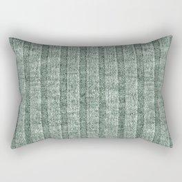 Moss Green Jersey Knit Pattern Rectangular Pillow
