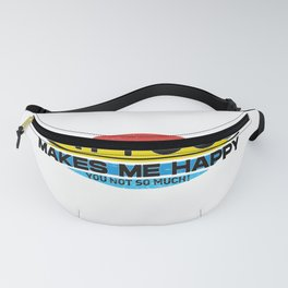 TattooS Makes Me Happy You Not So Much  Funny Hobbie Gift Fanny Pack