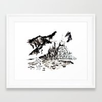 gondor Framed Art Prints featuring Return of the King - Gondor, Gandalf by Knapp Ink