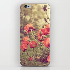 Poppy Red iPhone & iPod Skin