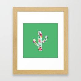 Colorful cactus Framed Art Print