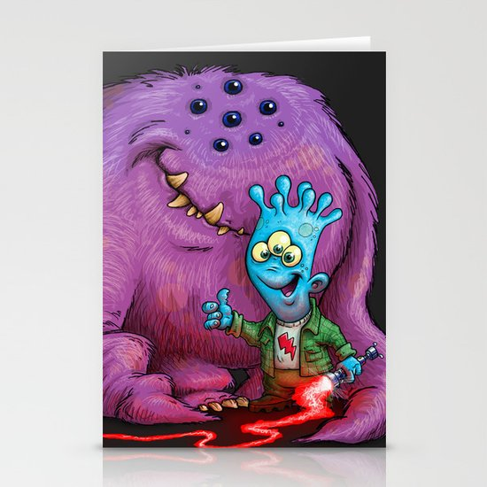 A boy and his Grogg Stationery Cards