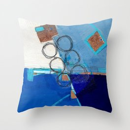 Blue Fields Throw Pillow
