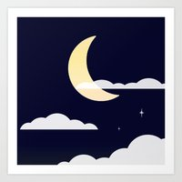 night sky Art Prints featuring Night Sky by Jozi