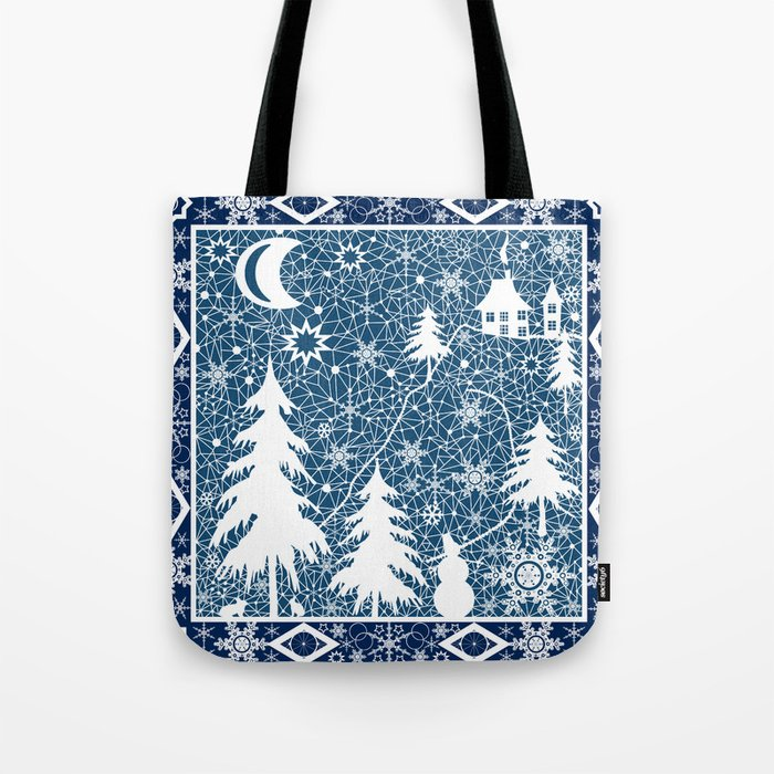 New year's design. Lace fabric . Tote Bag