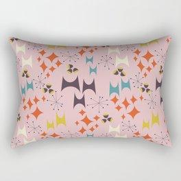 Deviled Starbursts Pink Rectangular Pillow