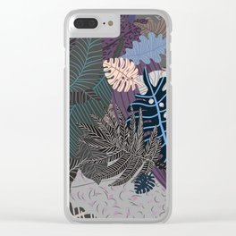 Faded Nature Pale Eternity Clear iPhone Case