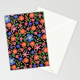 Folk Art Style Floral Stationery Cards