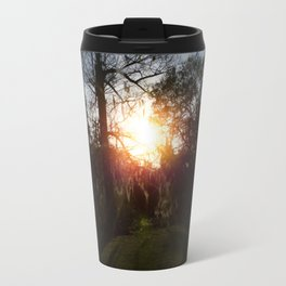 A History Of Whimsical Trees Glowing At Sundown In New Orleans Travel Mug