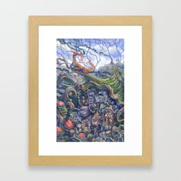 Between a Rock and a Hard Place Framed Art Print