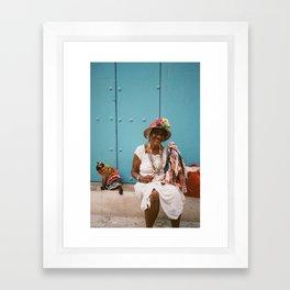 The Colourful Woman Framed Art Print