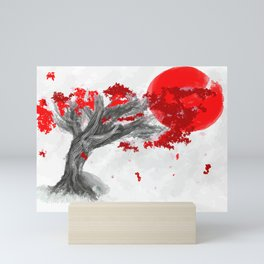 Red Moon Blossom Mini Art Print