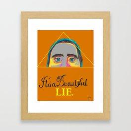 Jared Leto Tribute Framed Art Print