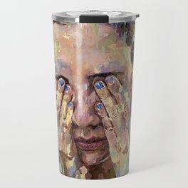 blue nails Travel Mug