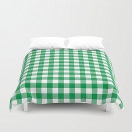 Plaid (green/white) Duvet Cover