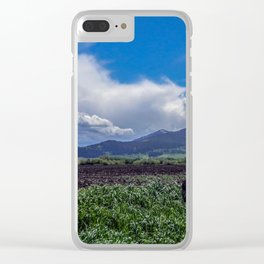 The Bridger Mountains, Outside Bozeman, Montana Clear iPhone Case