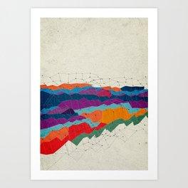 Landscape on Mars Art Print